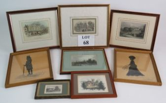 Six antique prints of Penshurst, Tunbrid