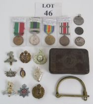 Five WWI era medals including the British India Service medal with Waziristan clasp, Mercantile