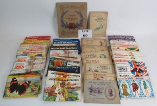 A large collection of cigarette and tea card albums from 1930s to 1970s including WD & HO Wills,
