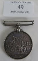 A silver 1878-80 Afghanistan medal named to J. Beeforth .D . 2nd BDE RA, Royal Artillery, No 536. No