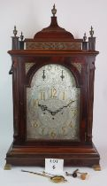 A large 19th Century mahogany cased bracket clock by John Moore of London. The movement striking and