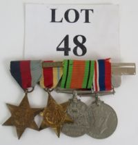 A WW2 medal group including a 1st Army Africa Star, 1939-1945 star, Defence medal and 1939-1945