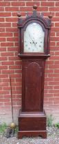 A Georgian oak cased 8 day longcase clock by 'Blackley Boughton', the dial with subsidiary second