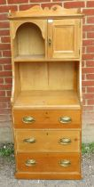 A stripped pine dresser of small proportions with three graduated long drawers to base. 160cm high x
