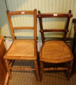 TWO PLAIN SEATED SINGLE CHAIRS