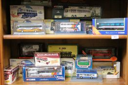 A GOOD SELECTION OF BOXED DIE-CAST COLLECTORS BUSES & COACHES, various, some Corgi limited editions