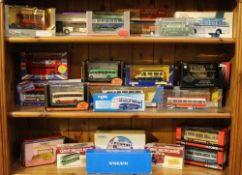 A GOOD SELECTION OF BOXED DIE-CAST BUSES & COACHES