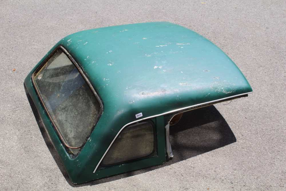 A VINTAGE GREEN FINISHED MG HARD TOP COVER - Image 4 of 5