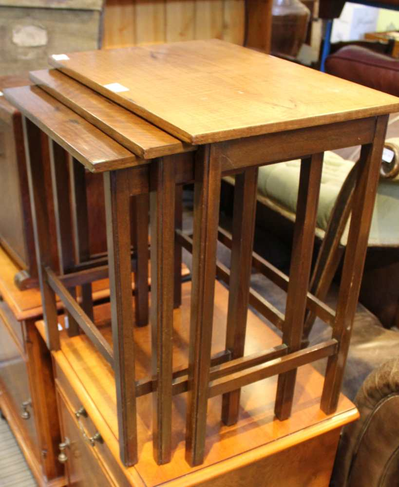 A NEST OF THREE TABLES