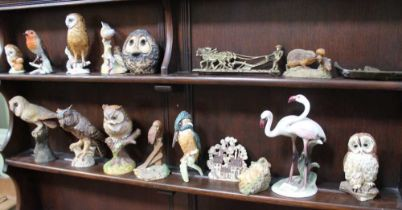 A SELECTION OF MODEL OWLS & BIRDS