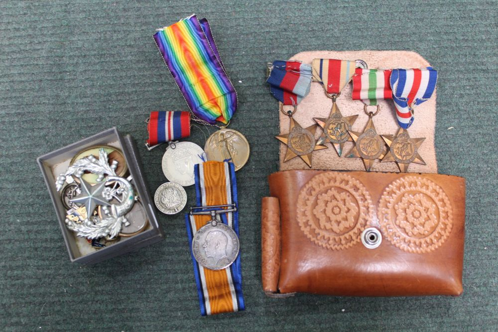 A SELECTION OF BRITISH MEDALS VARIOUS together with associated items