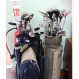 TWO GOLF BAGS plus contents