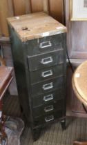 A MID-CENTURY INDUSTRIAL DESIGN SEVEN DRAWER CABINET