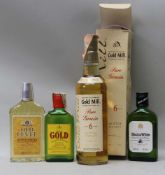 Goldmill Pure Grain aged 6 year old Scotch Whiskey, in presentation box, with three 20cl bottles