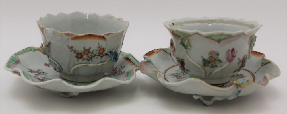 A COLLECTION OF ORIENTAL PORCELAIN WARES, to include lotus saucers with bowls, polychrome floral - Image 2 of 6