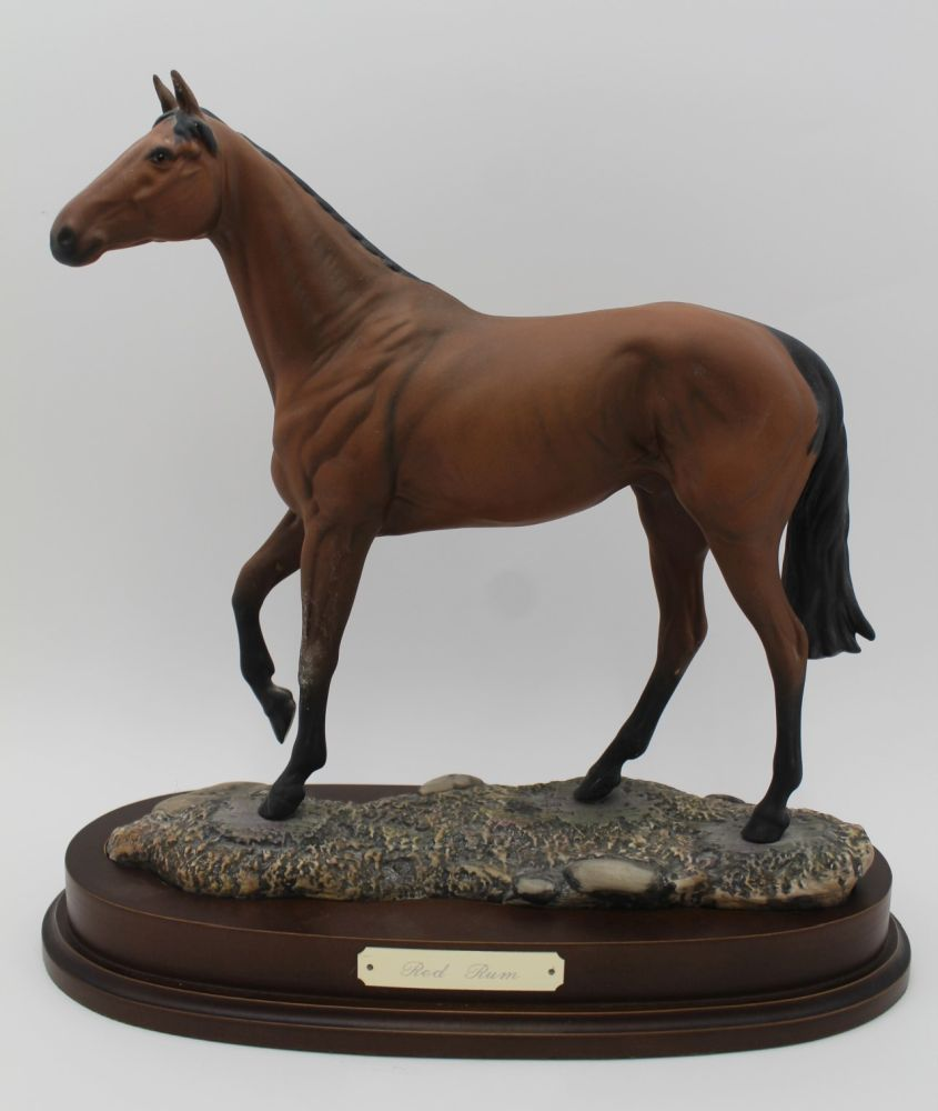 A ROYAL DOULTON CERAMIC MODEL OF 'RED RUM' modelled by J.G.Tongue, Ltd edition No.843 of 7,500