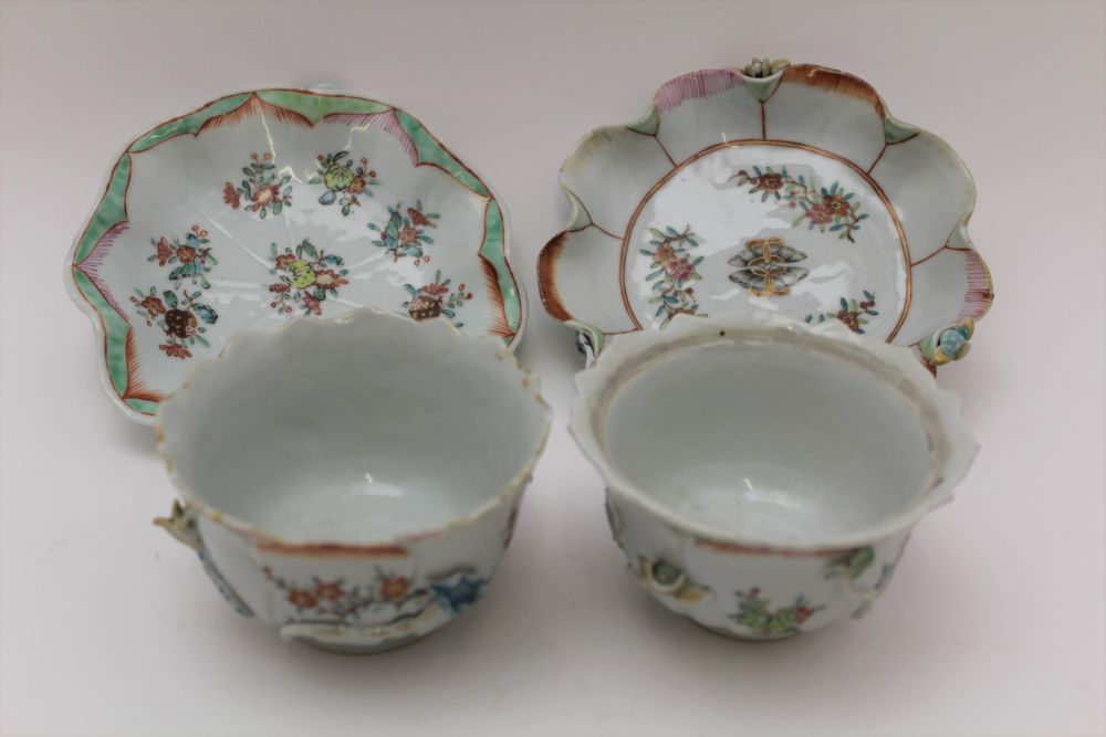 A COLLECTION OF ORIENTAL PORCELAIN WARES, to include lotus saucers with bowls, polychrome floral - Image 3 of 6