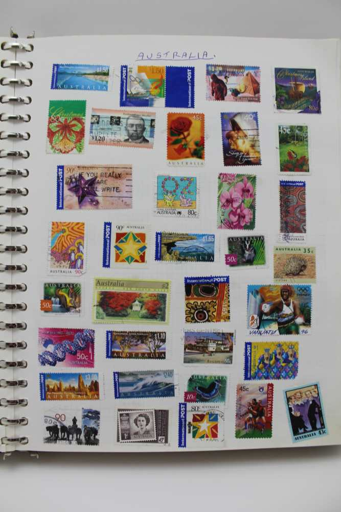 LARGE WHITE ALBUM with good number of World stamps, including GB & Commonwealth - Image 2 of 5