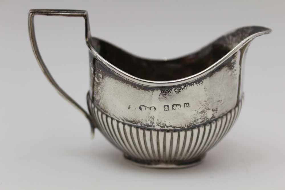 C.S. HARRIS AND SONS LTD. A SILVER JUG WITH HANDLE EITHER SIDE AND POURING LIP AT EITHER END, London - Image 2 of 8