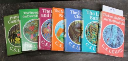 THE FULL SIX VOLUMES OF C S LEWIS 'LION THE WITCH & THE WARDROBE' SAGA, hardbacked, published by The