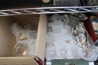 TWO BOXES OF DOMESTIC GLASSWARE