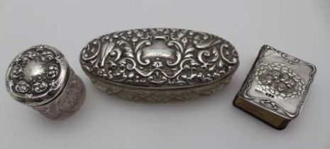 GIBSON & CO LTD, a miniature hymn book, the front mounted with an embossed silver panel, cherubs