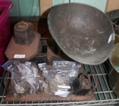 A LARGE SIZED SET OF BALANCE SCALES plus weights, various