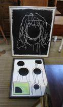TWO MODERNIST ORIGINAL ARTWORKS bearing the name 'Josh'