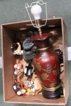 A BOX CONTAINING A SELECTION OF MINIATURE CARDEW DESIGN NOVELTY TEAPOTS, together with an Oriental