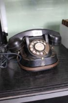A VINTAGE METAL DIAL TELEPHONE by Bell Industries