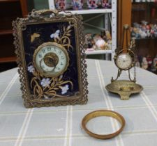 TWO DECORATIVE TIME PIECES (in need of TLC)
