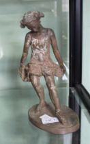 A LIMITED EDITION SCULPTURAL FIGURE OF A BALLET DANCER by R. Moll, 42 of 150