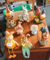 A SELECTION OF RESIN ANIMAL FIGURINES, the majority comical