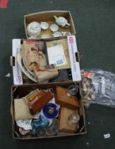 THREE BOXES OF DOMESTIC COLLECTABLES VARIOUS