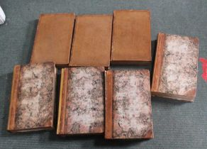 A SELECTION OF ANTIQUARIAN HARDBACK BOOKS to include Blackstones commentaries, and Campbell's