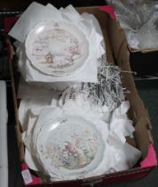 A BOX CONTAINING A GOOD SELECTION OF COLLECTOR'S PORCELAIN PLATES, some with certificates, to