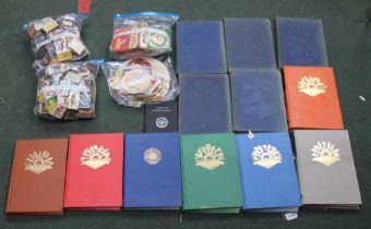 A BOX CONTAINING A SELECTION OF COLLECTABLE ITEMS to include; beer mats, match boxes, a 1961