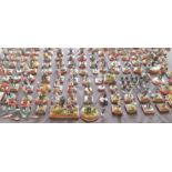 Approx. 100 hand painted metal and resin mounted on wood military figures. IMPORTANT: Online viewing