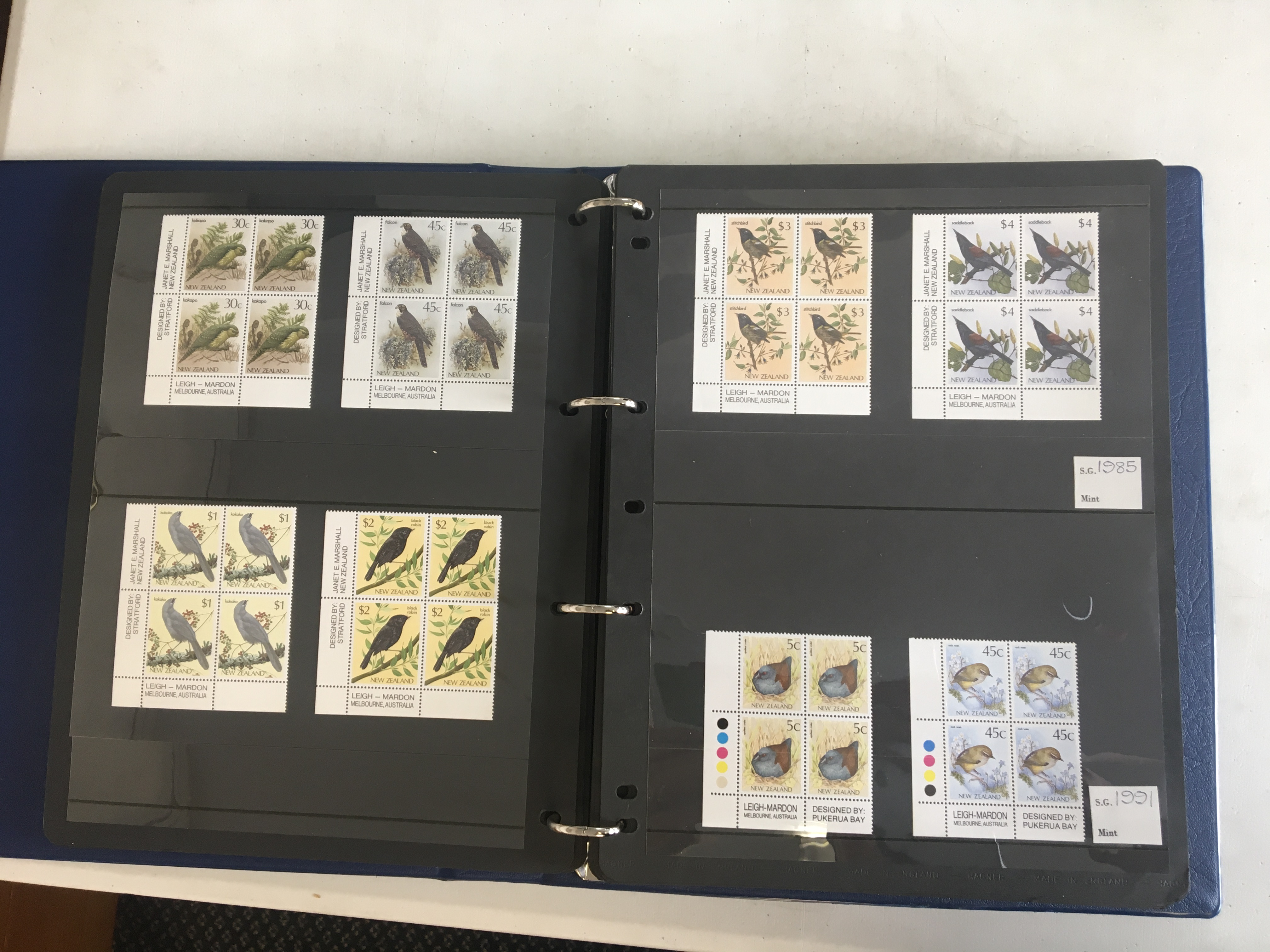 A seven volume, mainly Commonwealth, collection of mint stamps on Hagner leaves, all different