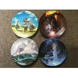 A set of twelve Danbury Mint Lord of the Rings wall plates. IMPORTANT: Online viewing and bidding