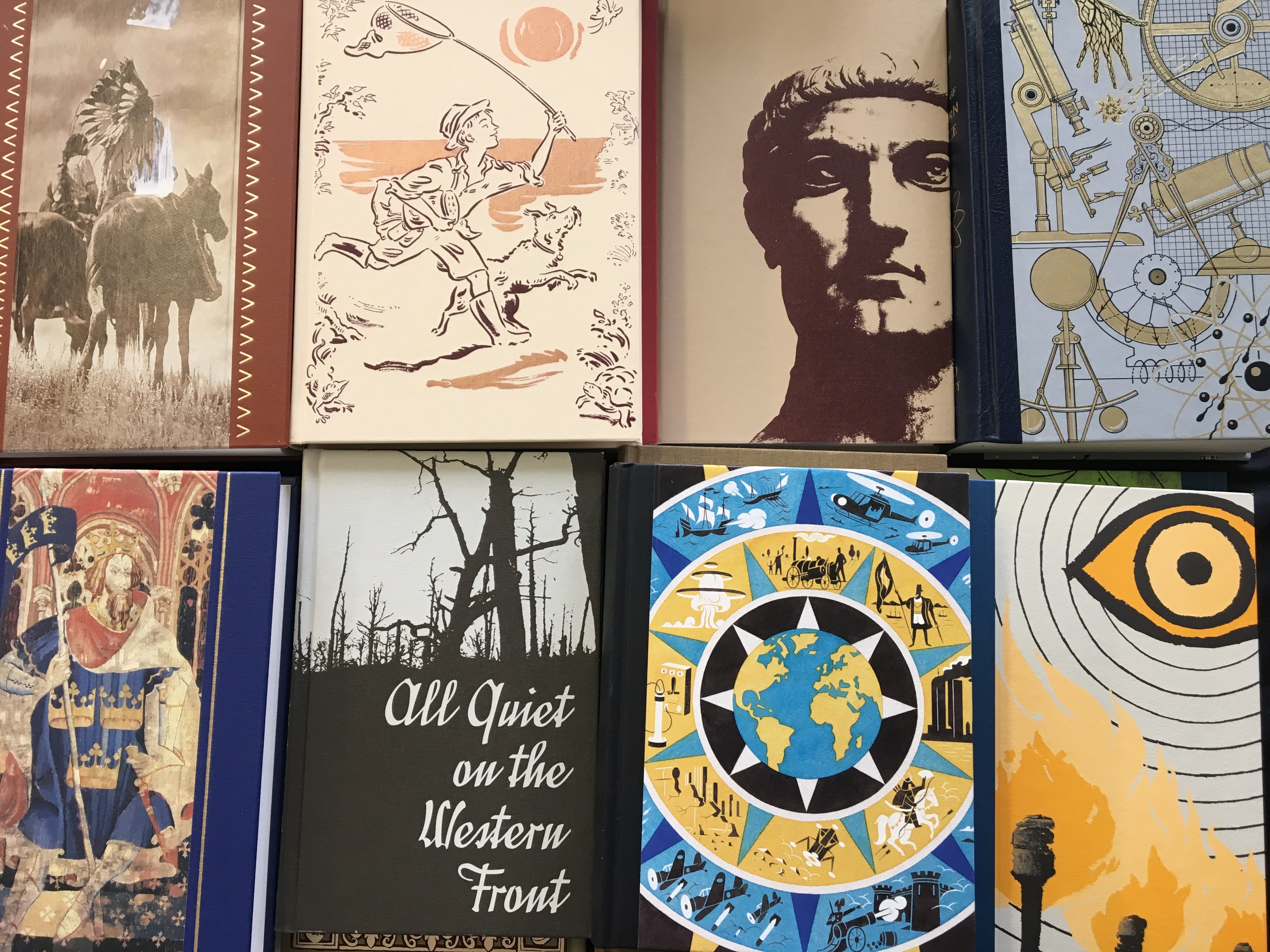 Approx. 30 Folio Society books including history, novels, science, etc. IMPORTANT: Online viewing