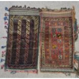 Two Afghan camel bags. IMPORTANT: Online viewing and bidding only. No in person collections, an