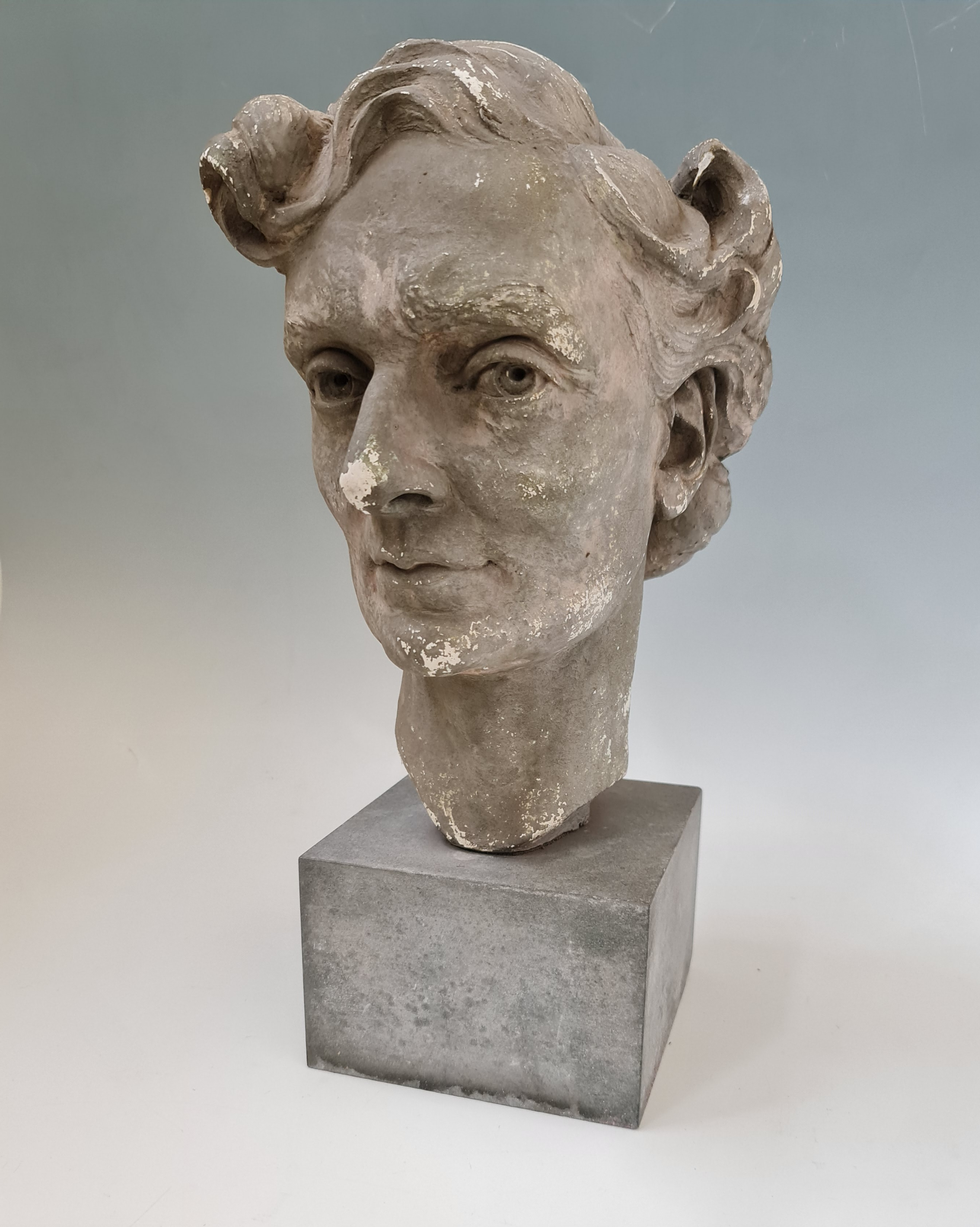 ROY SMITH (R.W.A. Wedgwood sculptor). Signed verso, dated 1946 and titled 'Gretta', plaster