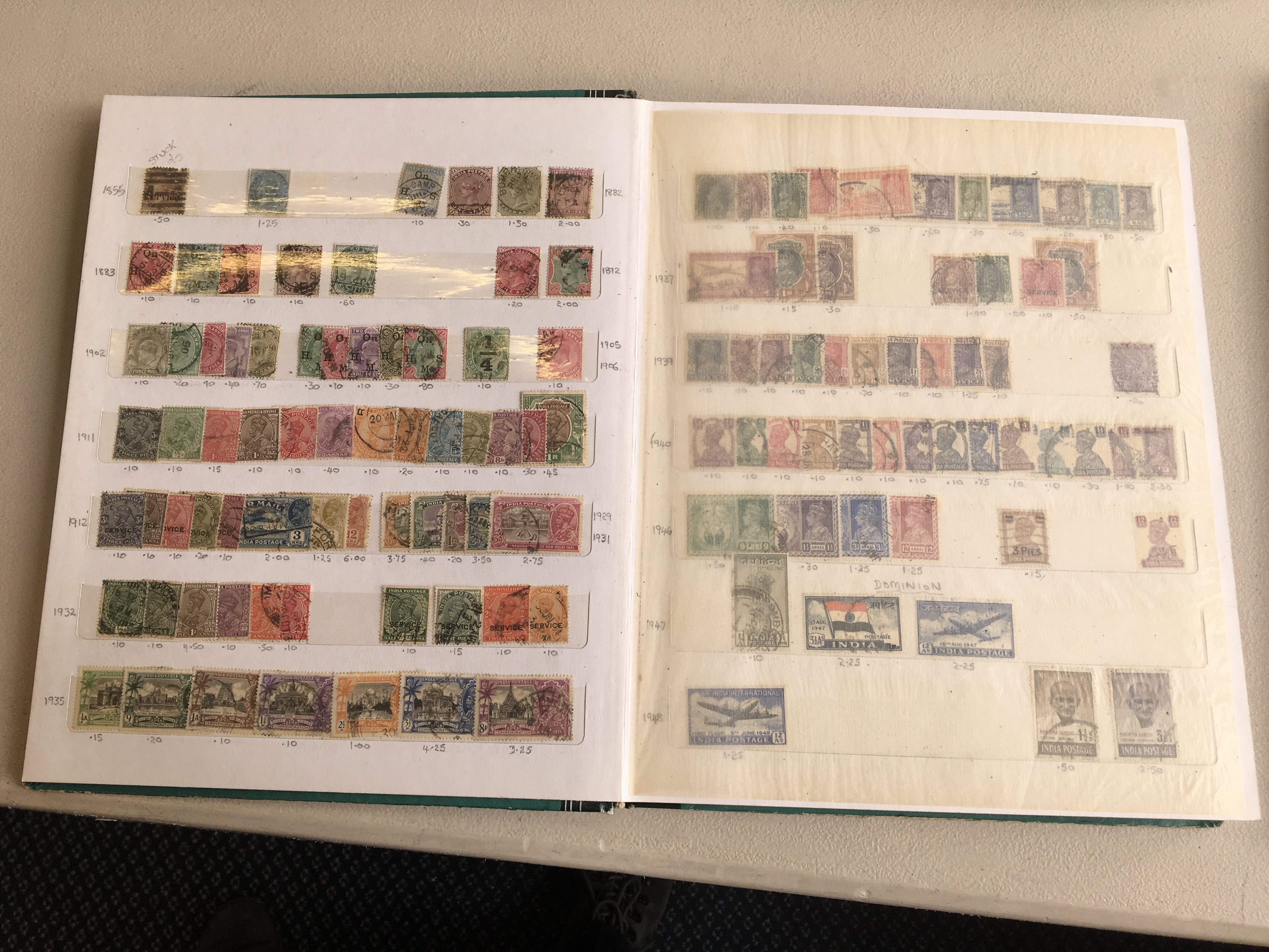 A British Commonwealth mint and used collection of stamps in six stock books - strong in West Indies