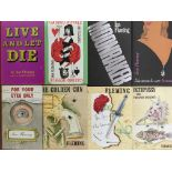 Eight Ian Fleming James Bond books, including Casino Royale, Octopussy, Live and Let Die, etc.