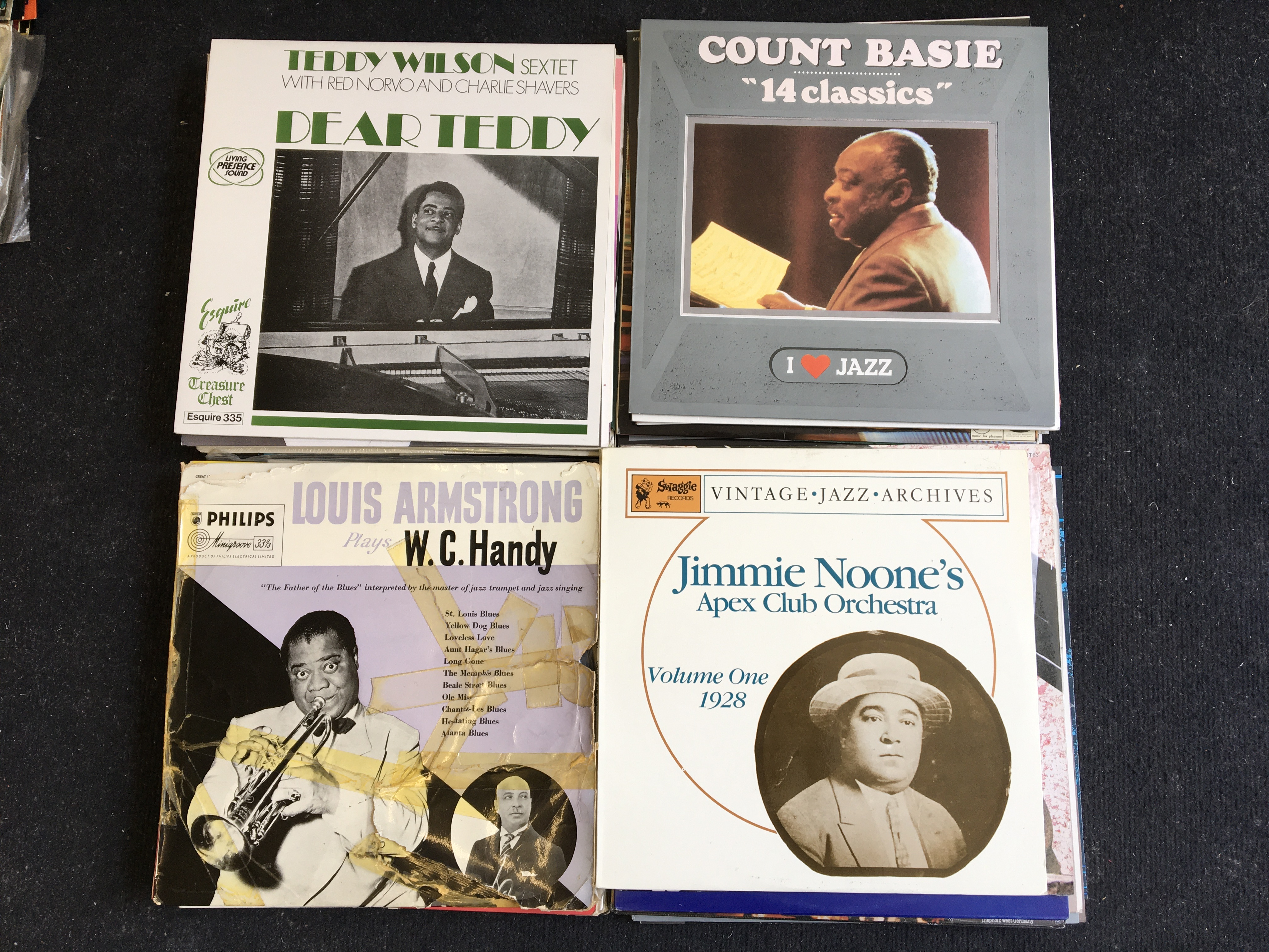 Approx. 100 various jazz vinyl records including Louis Armstrong, Bessie Smith, Duke Ellington, etc. - Image 2 of 2
