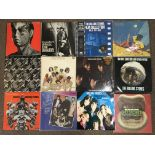 Twelve Rolling Stones vinyl records, Big Hits (High Tide and Green Grass), Still Life, Get Stoned,