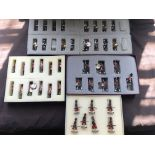 Four box sets of handpainted metal military figures, including Highlander, Ducal, etc. IMPORTANT: