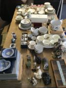 A large quantity of various items to include part tea and dinner services, Wedgwood jasperware,