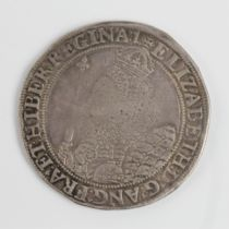 An Elizabeth I silver crown, seventh issue, '1' Tower mintmark for 1601-1602, approx. diameter 4.